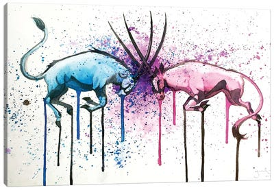 Oryx Fight Canvas Art Print