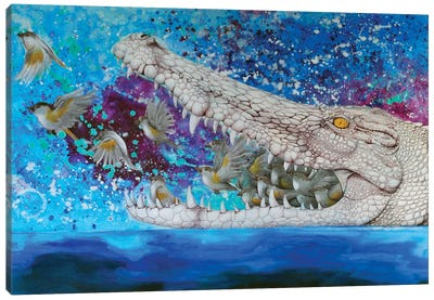 Crocodile Dream Canvas Art Print