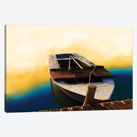 Boat II 3-Piece Canvas #YBM10} by Ynon Mabat Canvas Print