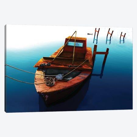 Boat III 3-Piece Canvas #YBM11} by Ynon Mabat Canvas Print