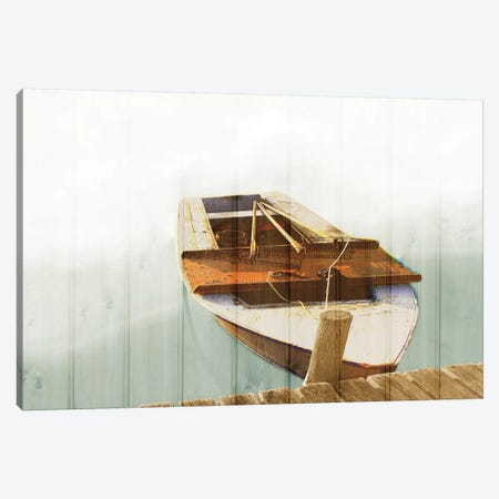 Boat With Textured Wood Look II Canvas Print #YBM14} by Ynon Mabat Canvas Art