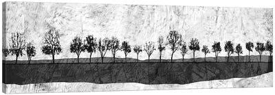 Dark Ink Trees Canvas Art Print