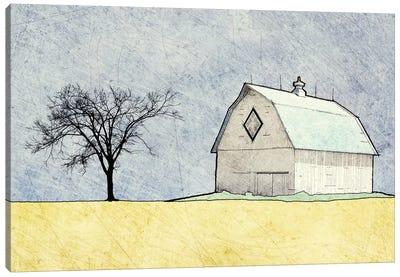 Daytime Farm Scene Canvas Art Print