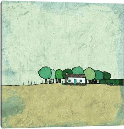 Farmhouse On The Edge Canvas Art Print