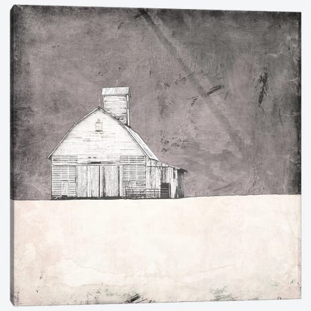 Farmhouse Under Grey Skies Canvas Print #YBM27} by Ynon Mabat Canvas Art Print