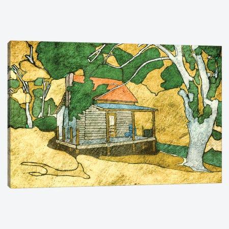 Forest Cabin Canvas Print #YBM28} by Ynon Mabat Canvas Artwork