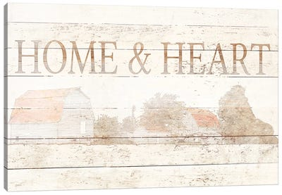 Home And Heart Canvas Art Print