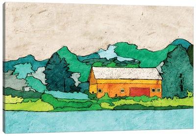 Lake Side Canvas Art Print