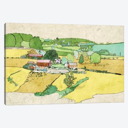 Large Farm Canvas Print #YBM34} by Ynon Mabat Canvas Wall Art