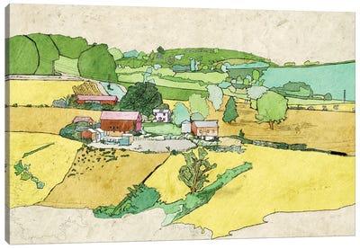 Large Farm Canvas Art Print