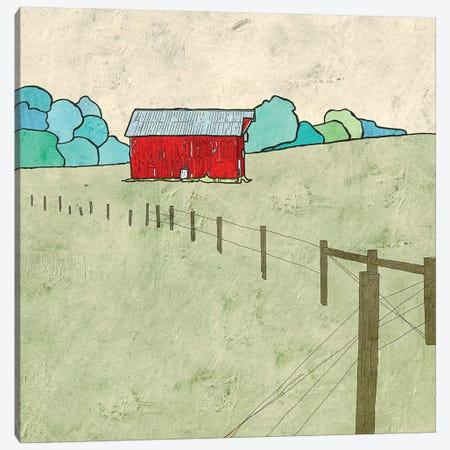 Little Red Barn Canvas Print #YBM35} by Ynon Mabat Canvas Art