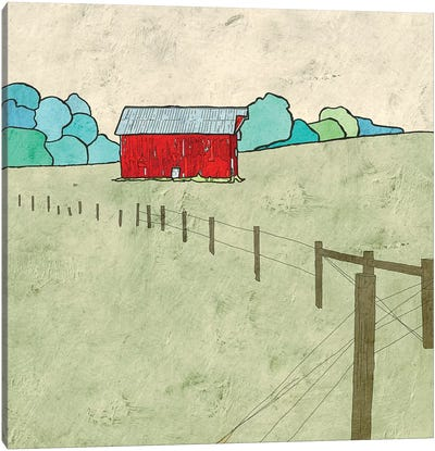 Little Red Barn Canvas Art Print