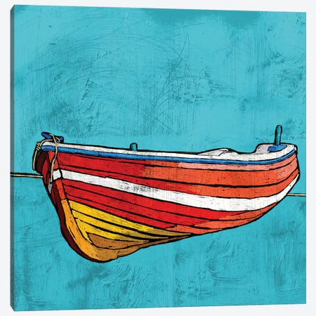 Little Red Rowboat Canvas Print #YBM36} by Ynon Mabat Canvas Art