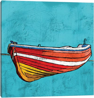 Little Red Rowboat Canvas Art Print
