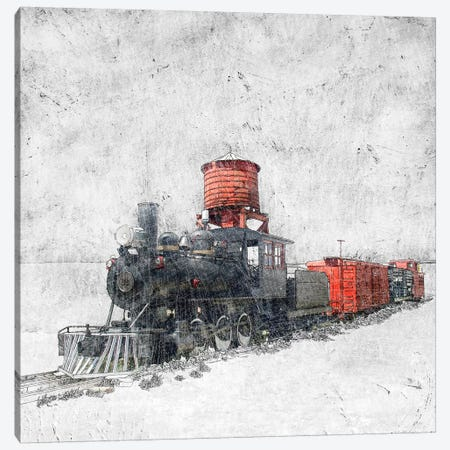 Muted Locomotive Canvas Print #YBM41} by Ynon Mabat Canvas Wall Art