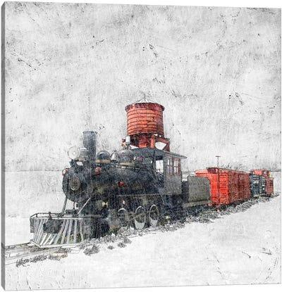 Muted Locomotive Canvas Art Print