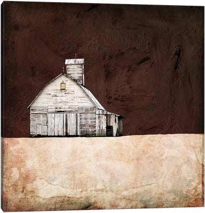 Neutral Brown Farm Canvas Art Print