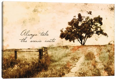 Always Take The Scenic Route Canvas Art Print