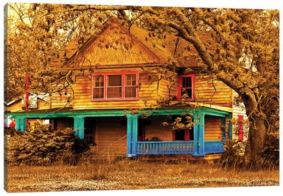 Porch In Blues Canvas Art Print