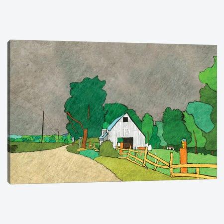 Rainy Season On The Farm Canvas Print #YBM55} by Ynon Mabat Canvas Art