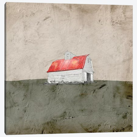 Red And White Barn Canvas Print #YBM56} by Ynon Mabat Canvas Art
