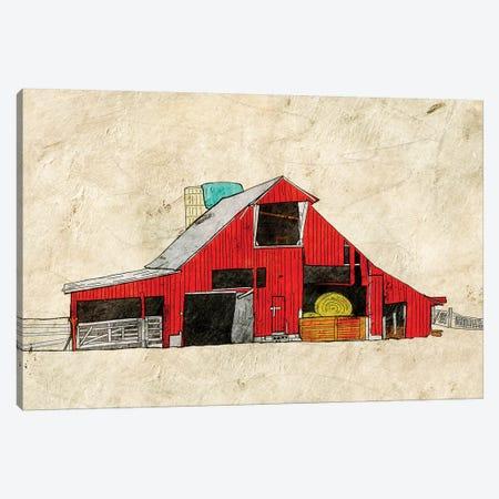 Red Barn Canvas Print #YBM57} by Ynon Mabat Canvas Artwork