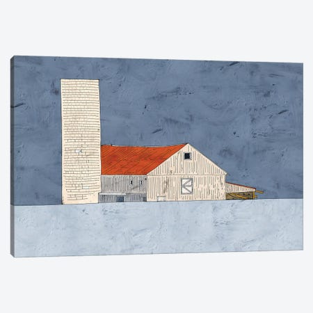 Barn And Silo Canvas Print #YBM5} by Ynon Mabat Canvas Artwork