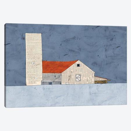 Barn And Silo Canvas Print #YBM5} by Ynon Mabat Canvas Artwork