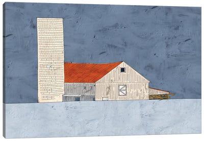 Barn And Silo Canvas Art Print