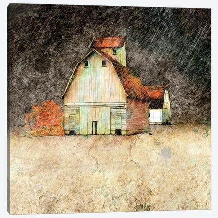 Stormy Farm Evening Canvas Print #YBM65} by Ynon Mabat Canvas Print