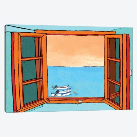 Through The Window Canvas Print #YBM69} by Ynon Mabat Canvas Art