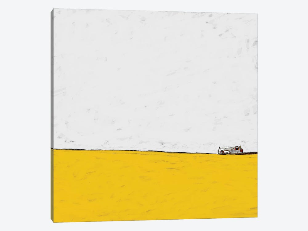 Barn In The Distance by Ynon Mabat 1-piece Canvas Art