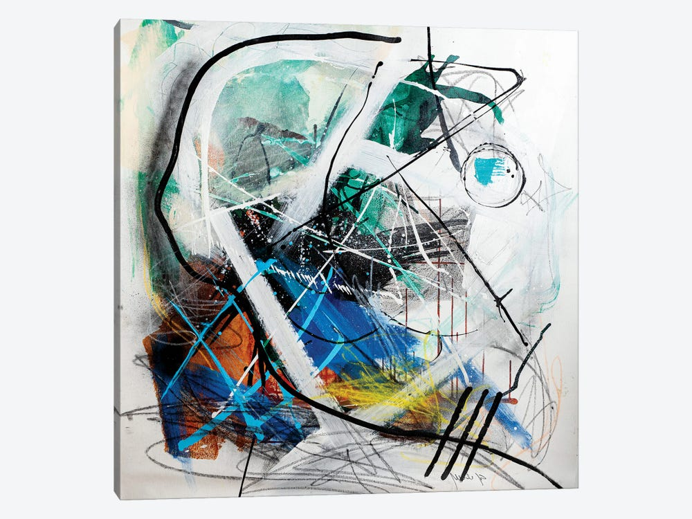 Indise The Machine by Yossef Ben-Sason 1-piece Canvas Wall Art