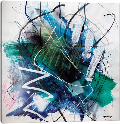 Deeps Of Blue Canvas Art Print