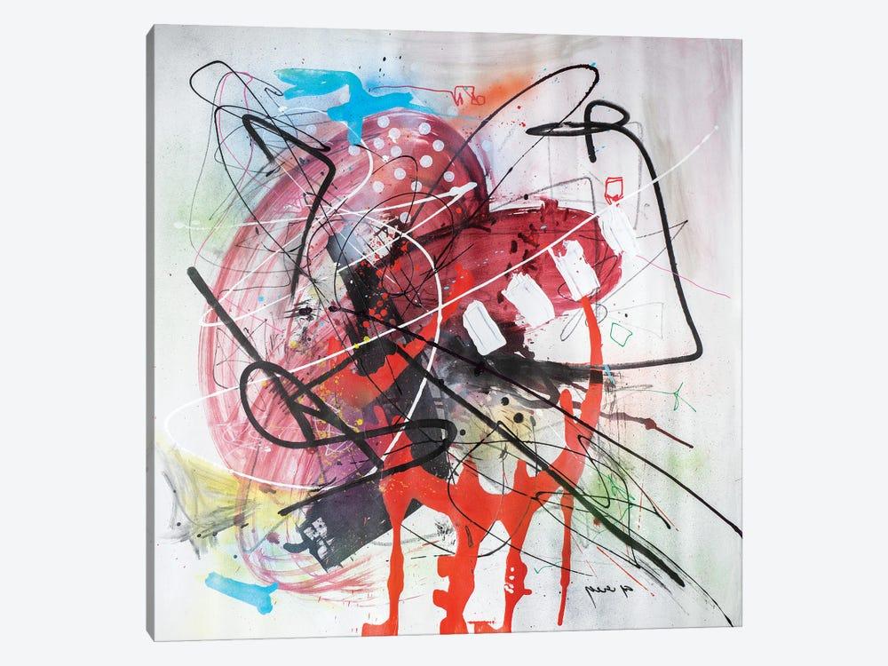 Monkey Buisness by Yossef Ben-Sason 1-piece Canvas Art