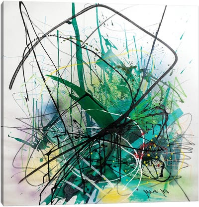 Green Field Canvas Art Print