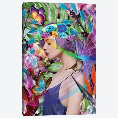 Fairy Princess Canvas Print #YCB12} by Yvonne Coleman Burney Art Print