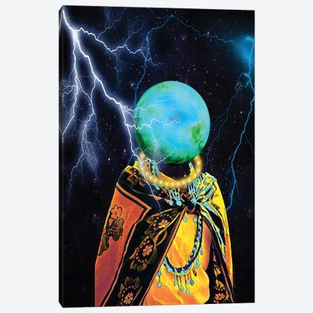 Lightning Strikes Canvas Print #YCB13} by Yvonne Coleman Burney Art Print