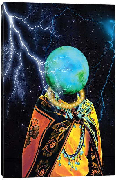Lightning Strikes Canvas Art Print