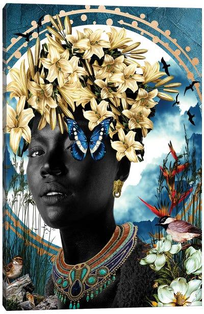 Lily Blue Canvas Art Print