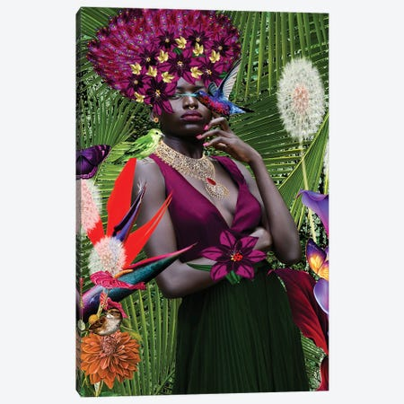 Jamacian Garden Canvas Print #YCB17} by Yvonne Coleman Burney Canvas Art