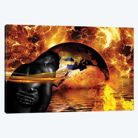 Through The Fire Canvas Print #YCB23} by Yvonne Coleman Burney Canvas Artwork