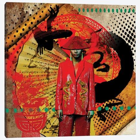 Black China Canvas Print #YCB26} by Yvonne Coleman Burney Canvas Art Print
