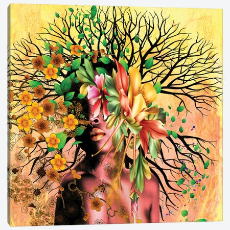 Women In Bloom - I Create Life 3-Piece Canvas #YCB27} by Yvonne Coleman Burney Canvas Art Print