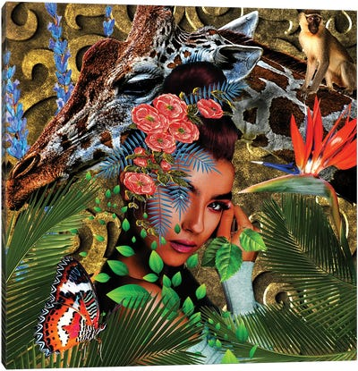 Women In Bloom - Jungle Boogie Bloom Canvas Art Print