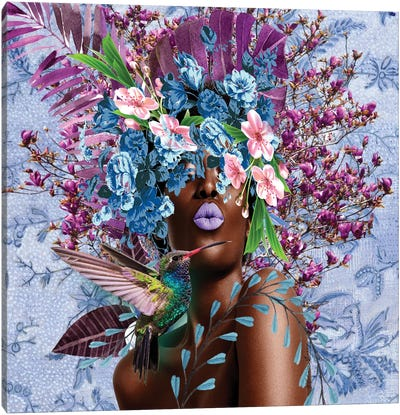 Women In Bloom - Purplicious Canvas Art Print