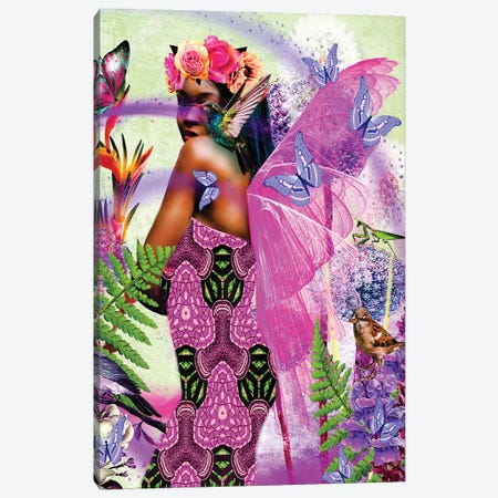 Beautiful Wings Pink Canvas Print #YCB2} by Yvonne Coleman Burney Art Print