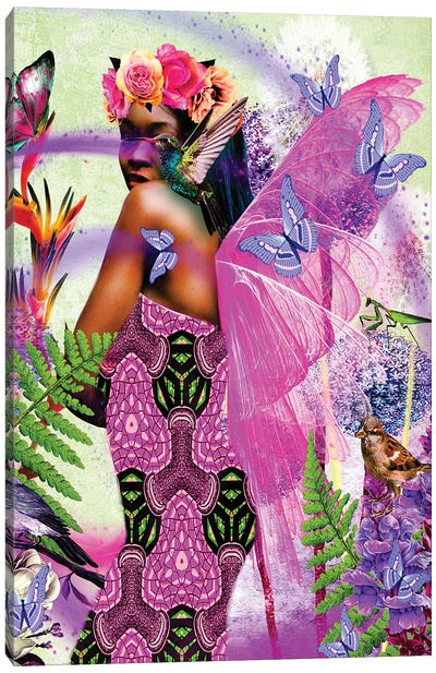 Beautiful Wings Pink Canvas Art Print