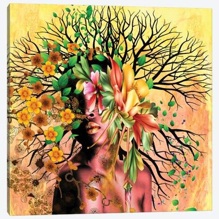 I Create Life Canvas Print #YCB36} by Yvonne Coleman Burney Canvas Art