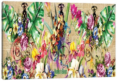 Flowers & Perfume Canvas Art Print